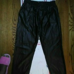 Piper faux leather joggers NWOT